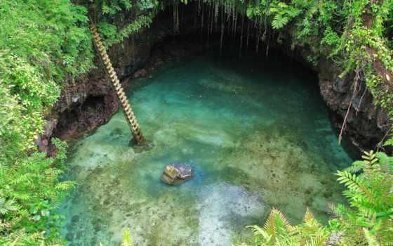 самоа, бассейн, уполу, озеро, государства, находится, острове,