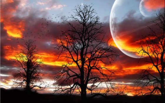 природа, небо, зимняя, ночь, крутые, бесплатные, фотообои, компьютер, нью, шикарные, heaven,