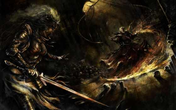 черепа, войны, битва, рисунки, art, меч, кости, digital,