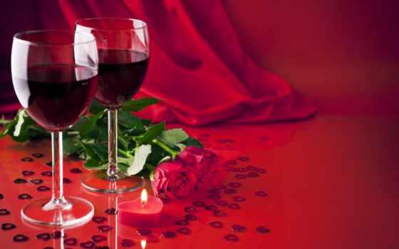 розы, cvety, свечи, вина, красные, шампанское, red,