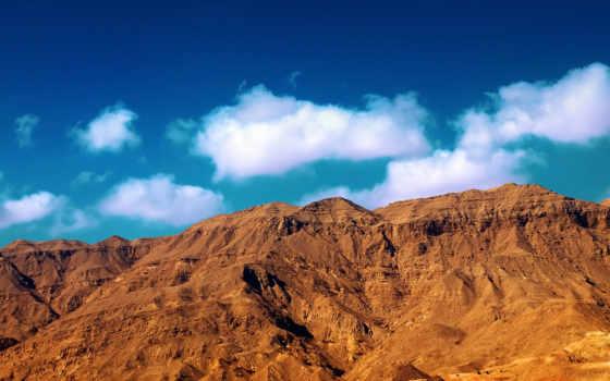 mountain, desert