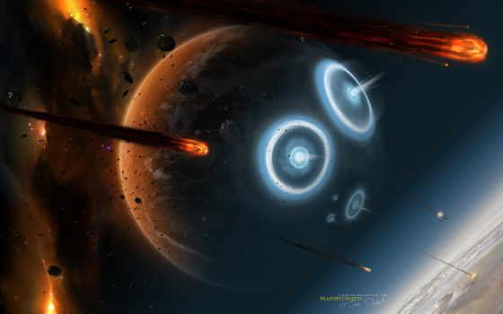 planet, cosmos, небо