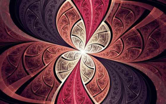 pattern, линии, лепестки, abs, red, цветы, фотообои, фон, pin,