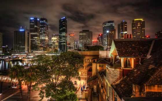 sydney, австралия, погода, мира, достопримечател, ночь, new, год,