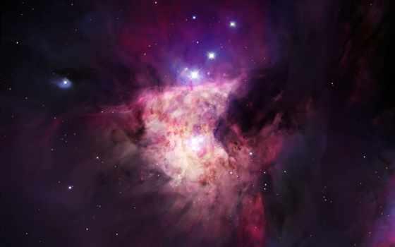 космос, красивая, туманность, фиолетовая, hubble, outer, star,