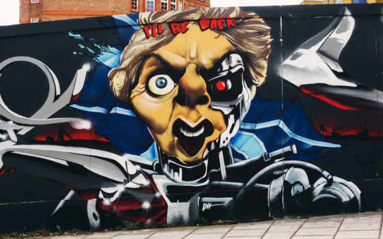 thatcher, graffiti, 格蕾斯margaret, has, февр, их,