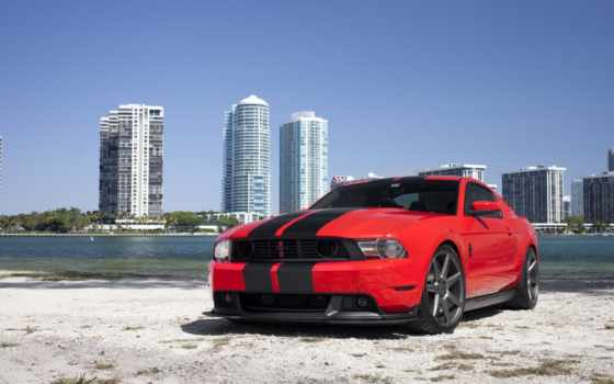 mustang, ford, red