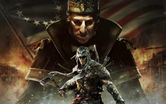 creed, assassin, washington, tyranny, king,