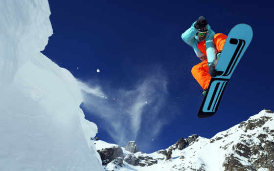 skiing, гора,