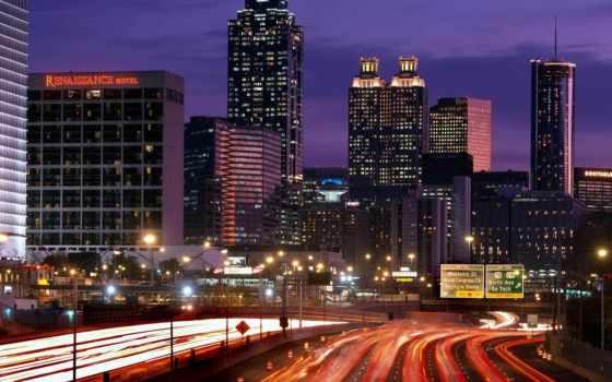 paisagens, noite, parede, para, imagens, cidade, atlanta, cidades, fotos, urbanas, papel,