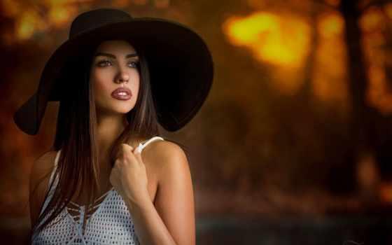 девушка, devushki, макияж, шляпа, шатенка, губы, модель, картинка, страница, взгляд,