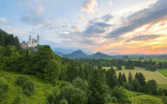 german, нойшванштайн, германия, tapety, горы, нойшванштайн, города, бавария, pulpit,
