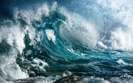 буря, ocean, брызги, волна, water, камни, океане,
