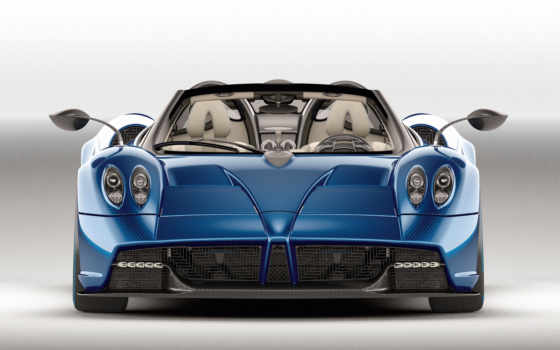 pagani, huayra, roadster, blue,