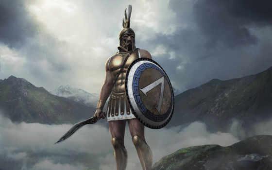 war, total, arena, leonidas, мечи, шлем, дневники, разработчиков, щит,