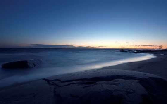 море, горизонт, пляж, ночь, free, ocean, images,