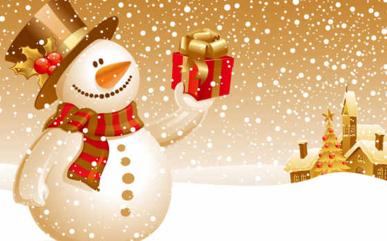 christmas, snowman Фон № 31273 разрешение 1600x1200