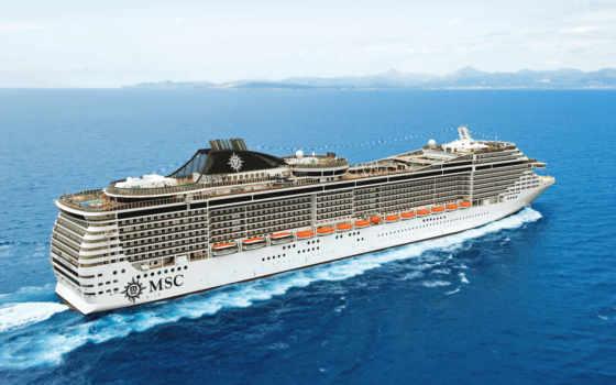 msc, splendida, лайнер, судно, ходу, море, корабли, картинка, картинку,