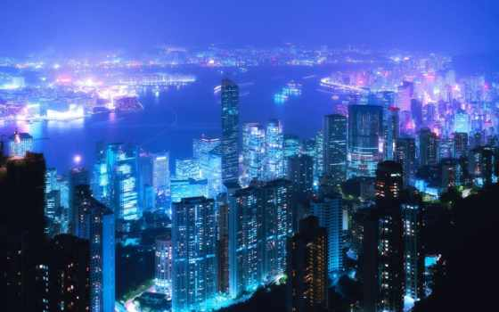 tokyo, город, фонари