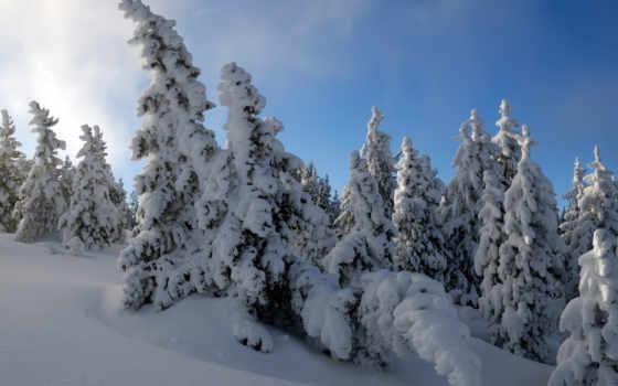 paisajes, hdtv, снег