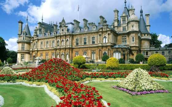 manor, waddesdon, англия, buckinghamshire, пазлы, великобритании,