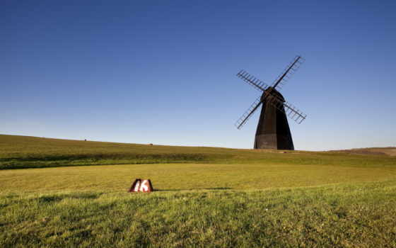 ветряк, wooden, landscape, windmills, природа, desktop, landscapes,