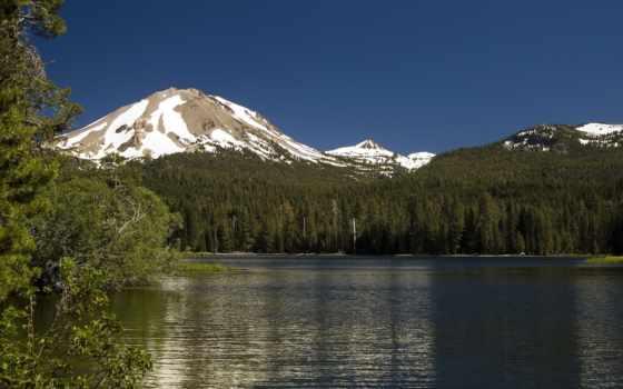 природа, lassen, peak, nice, друг, грусти, дек, небо, синее, русавуки,