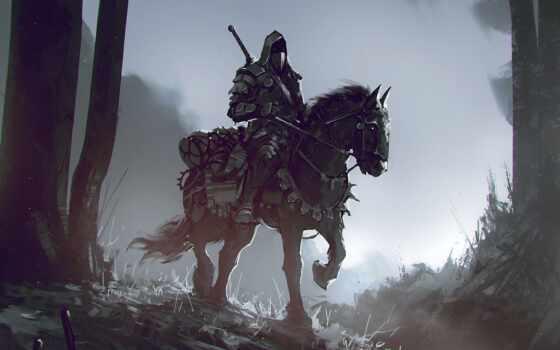 fantasy, лошадь, воин, art, пост, fore, artwork, animal