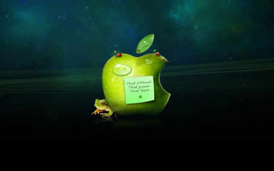 Think different, think greener, think Apple