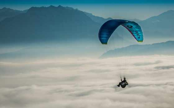 paragliding, параплан, полеты, полет, ноутбук, вольтижировка, небо, спорт,