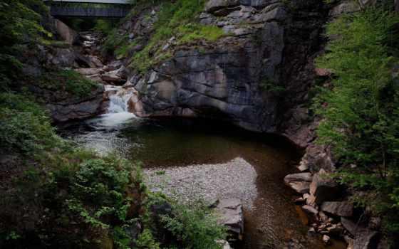 мост, пейзажи -, bridges, free, ущелье, desktop, flume,