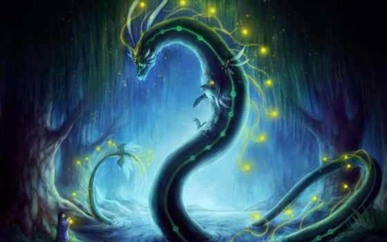 дракон, art, змей, страница, north, красивые,