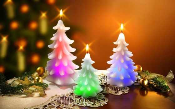 свеча, новый год, sign, postcard, отправить, красивый, символика