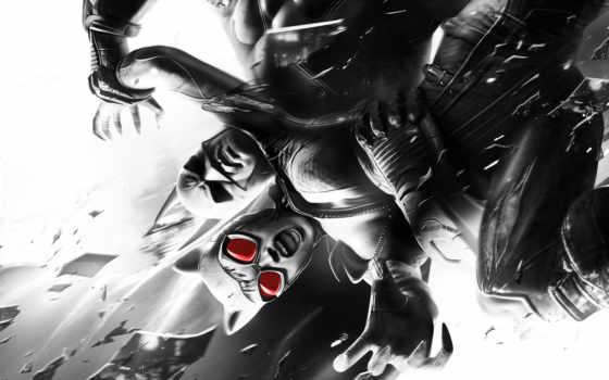 batman, arkham, city,