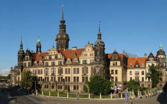 замок, residence, dresden, резиденцией, дворец, дрездена, дек,