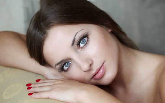 ojos, con, azules, chica, una, los, bellos, mujeres, descárgalo, hermosa,