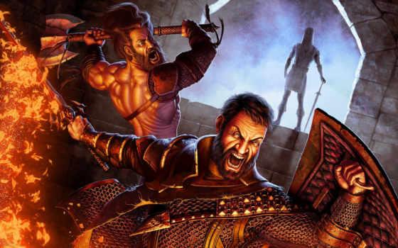меч, битва, rage