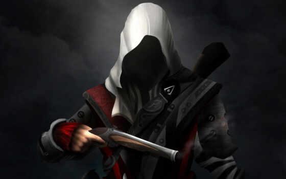assassin, creed, пистолет, edward, kenway, мужчина, картинка, game, капюшон