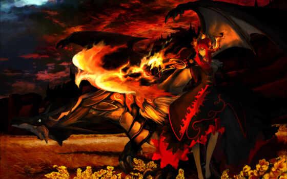 феникс, дракон, демон