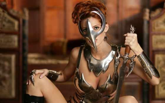 воин, девушка Фон № 65384 разрешение 2560x1600