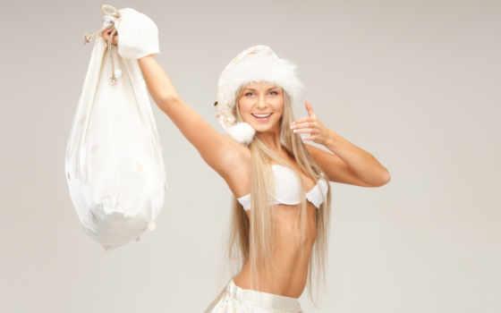 снегурочка, blonde, шапка