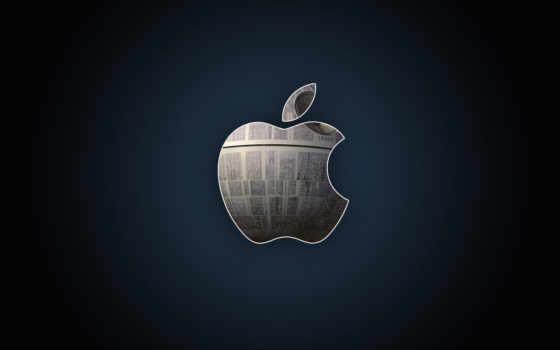 apple logo на фоне вырезки