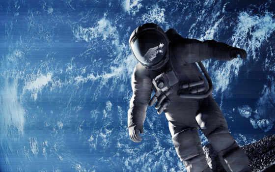 космонавт, космосе, cosmos