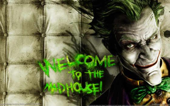 joker, характер, надпись, злодей, игры, обоях, добавлено, лет,