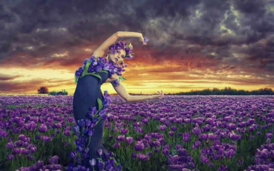 девушка, тюльпан, flowers, garden, home, поле, цветы, tulips, купить,