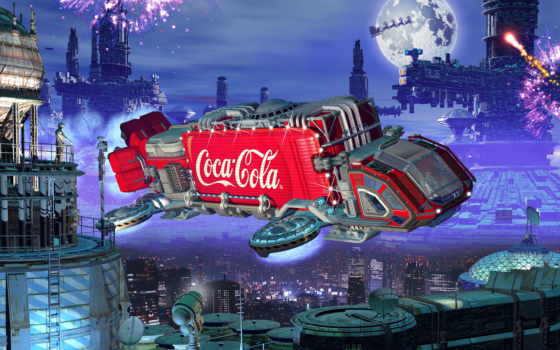 праздник, нам, приходит, cola, завершённые, работы, coca,