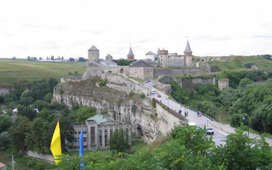 каменец, في, уже, подольского, подольский, мэрии, замок, янець, tourism, кам, castle, крепости, исключают, обвал,