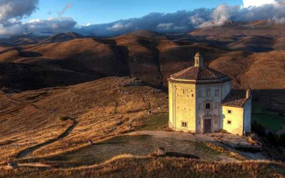 abruzzo, italy, church, санта, della, calascio, rocca, мария, mac,