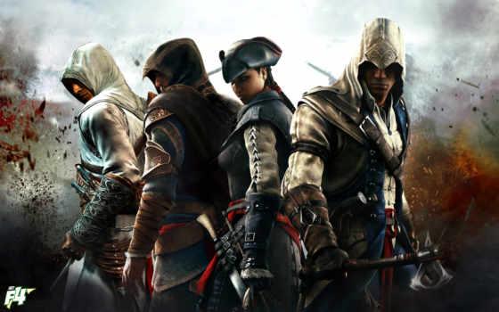 альтаир, creed, assassins, коннор, игры, эцио, ezio,