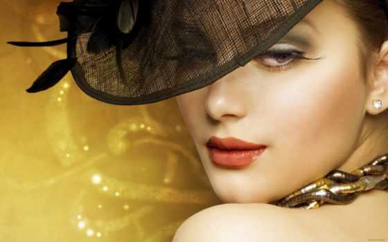 девушка, женщина, красивой, шляпе, красивая, стать, home, но,